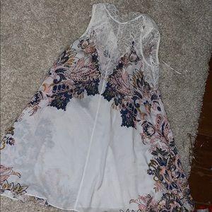 White lace free people dress